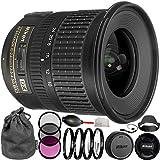 Nikon AF-S DX NIKKOR 10-24mm f/3.5-4.5G ED Lens Bundle with Manufacturer Accessories & Accessory Kit (14 Items) - International Version (No Warranty)