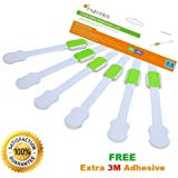 Adjustable Child Safety Locks, Childproof, Safety Latches Locks, Adhesive Latches, Multi Use Latches for Baby Proof Drawers - 6 Pack