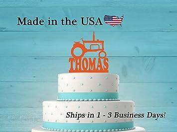 Tractor Birthday Cake Topper With FREE Keepsake Base Theme Party Farm Decor