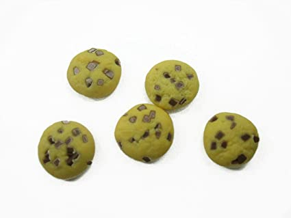 DOLLHOUSE MINIATURES BOX OF CHOCOLATE CHIP COOKIES GIFT FOOD BAKERY