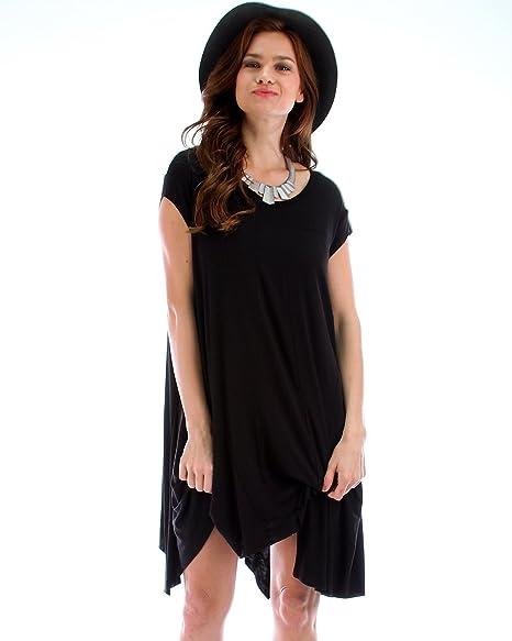 Lyss Loo Raw Edge Over Sized T-Shirt Dress