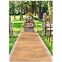 Weddingstar Burlap Aisle Runner with Borders