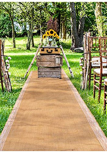 Weddingstar Burlap Aisle Runner with Borders -