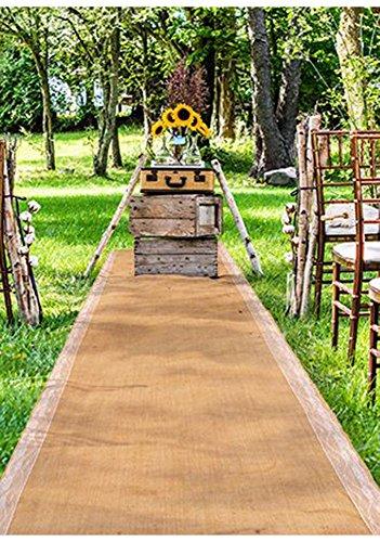 Weddingstar Burlap Aisle Runner with -