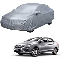 AutoRetail Car Body Cover for Honda City i-VTEC (2019) with Mirror Pocket & Double Stiched (Silver Matty)