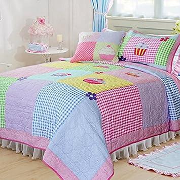 couvre lit enfant patchwork Fadfay Parure Fée filles courtepointe Patchwork, papillon  couvre lit enfant patchwork