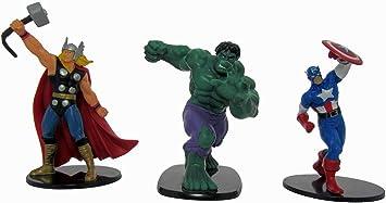 Marvel Pack Deluxe Heroes - Pack con Figuras de Thor, Hulk y ...
