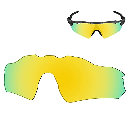 304485e011 Galvanic Replacement Lenses for Oakley Radar EV Path Sunglasses - 24k  Polarized