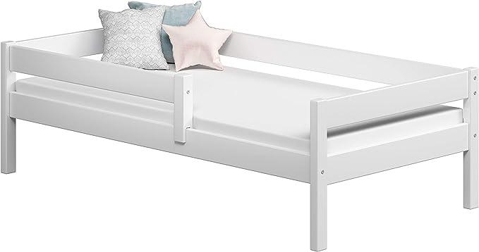 Childrens Beds Home Camas Individuales para niños Niños Niño pequeño Junior Sin cajones Sin colchón Incluido (200x90, Blanco)