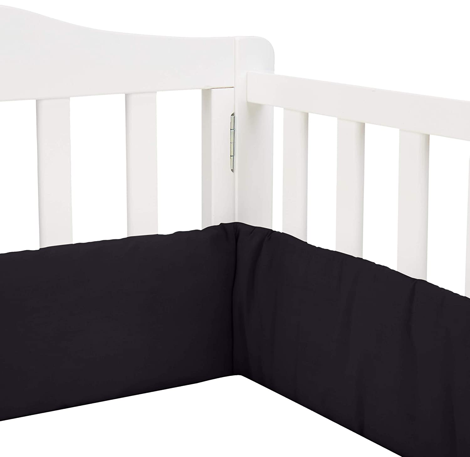 Babykidsbargains Safety Cradle Bumper Black Poly//Cotton 15 x 33