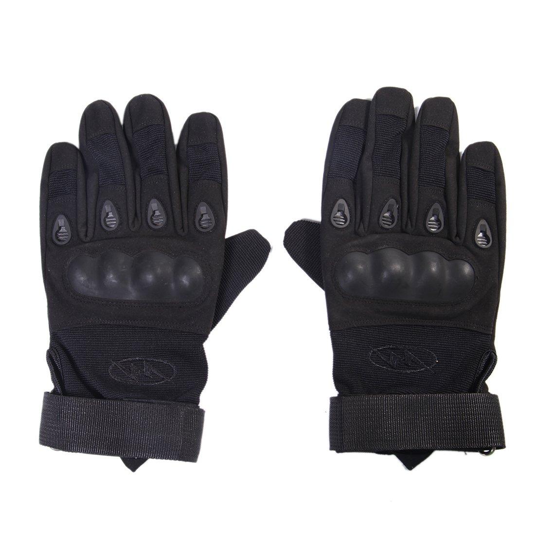 wildauto Motorcycle Riding GlovesミリタリータクティカルグローブATV Riding手袋フル指手袋 X-Large ブラック WA-1003 B07545RJJR X-Large|ブラック ブラック X-Large