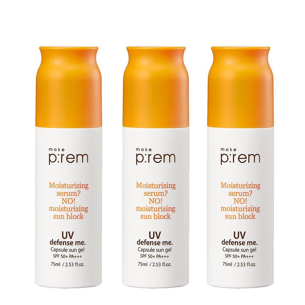 (3EA) x MAKE P:REM UV defense me. Capsule sun gel / Made in Korea