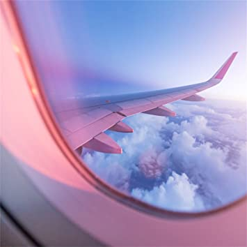 Amazon Com Lfeey 5x5ft Airplane Window View Backdrop Sunset