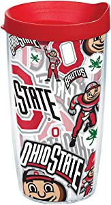 Tervis Ncaa Ohio State Buckeyes All Over Tumbler With Lid, 16 oz, Clear