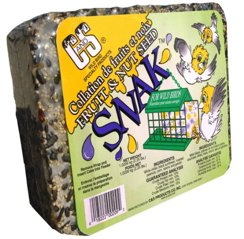 C and S Products Fruit and Nut Seed Snak, 6-Piece, My Pet Supplies