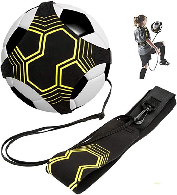 and 5 Fits Ball Size 3 GOHIGH Soccer Football Trainer Hand Free Solo Practice Training Equipment Aid Control Skills Adjustable Waist Belt 4