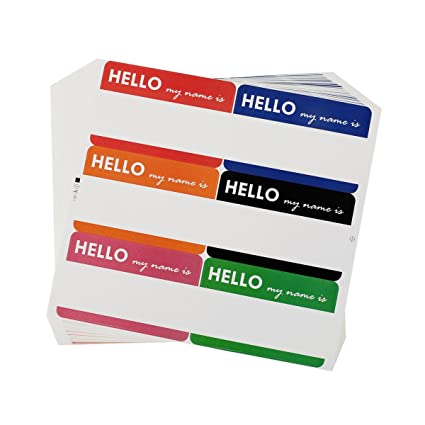 amazon com cualfec 210 pcs hello my name is stickers colorful name