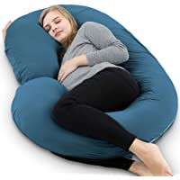 INSEN Pregnancy Body Pillow with Velour Cover,C Shaped Full Body Pillow for Pregnant Women