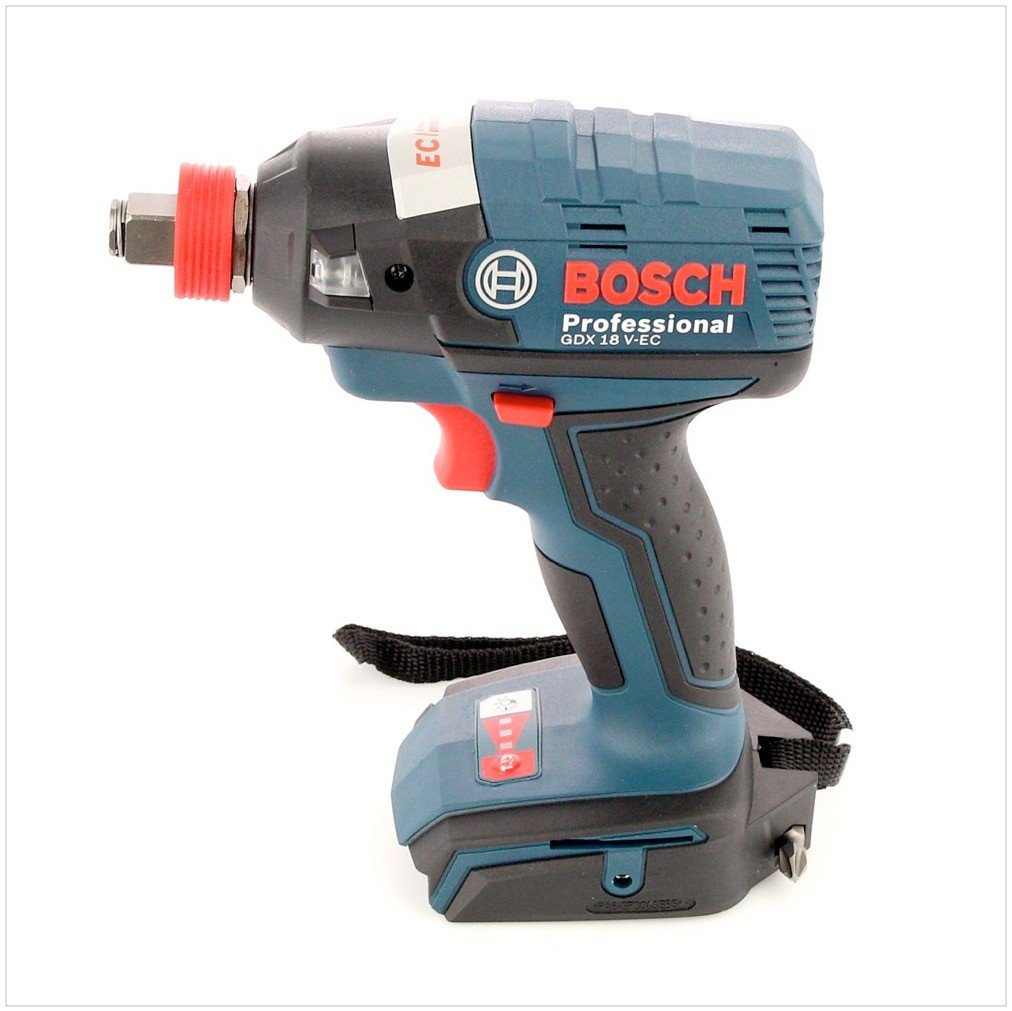 L-Boxx Bosch Professional GDX 18 V-EC Cordless Impact Driver with Two 18 V 4.0 Ah Lithium-Ion Batteries