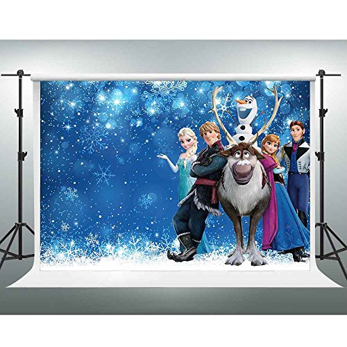 GESEN Frozen Backdrop 10x7ft Disney Princess Elsa and Friends Movie Animation Photography Background for Parties Photo Studio Props PGGE134 ()