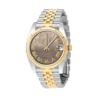 Image Unavailable. Image not available for. Color  Rolex Datejust 31 Black  Mother of Pearl ... 9ca2d63a83ec