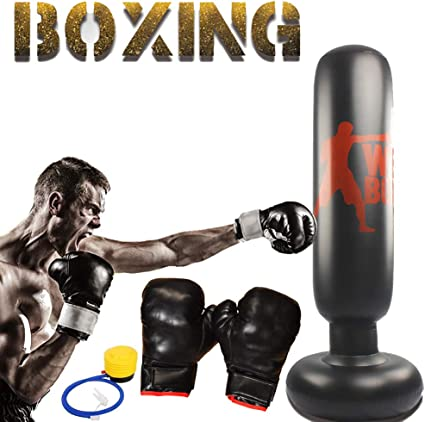 Heavy Duty Punch Bag 160cm Free Standing Boxing MMA Gym Kick Training Filled Bag