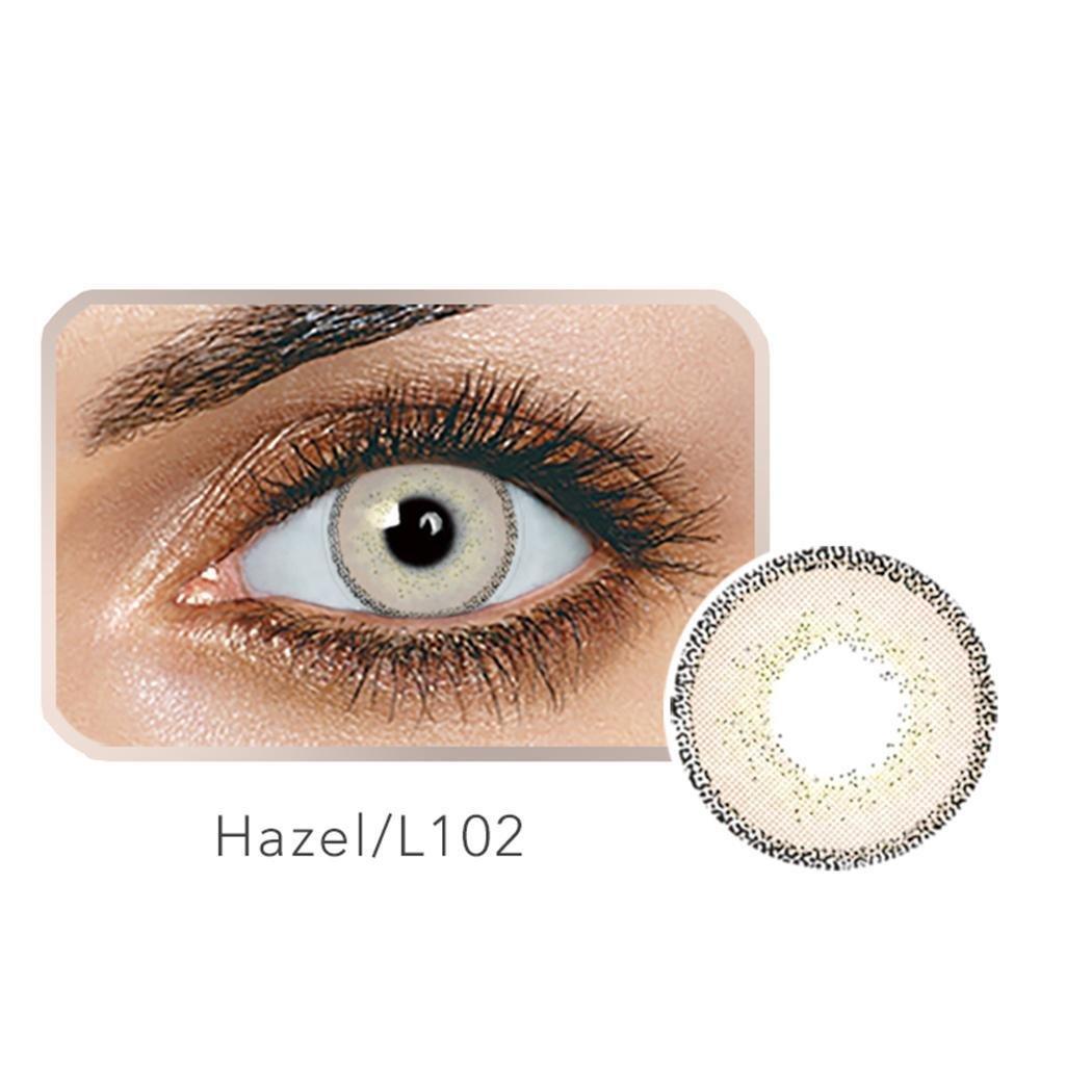 Ncient Lentilles de Contact Colorées Cosmétiques, Lentilles de Couleur Annuelles - Sans Correction Multicolores pour Femme - L10 (2 Pcss)