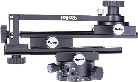 Cabezal de tr/ípode para tomas panor/ámicas de varias l/íneas Capacidad m/áx Compatible con ARCA SWISS de carga 3 kg Rollei Panoramic Head 200 Mark II Negro