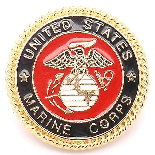 - Marines Emblem Rose Gold Concho Snap Cap 1