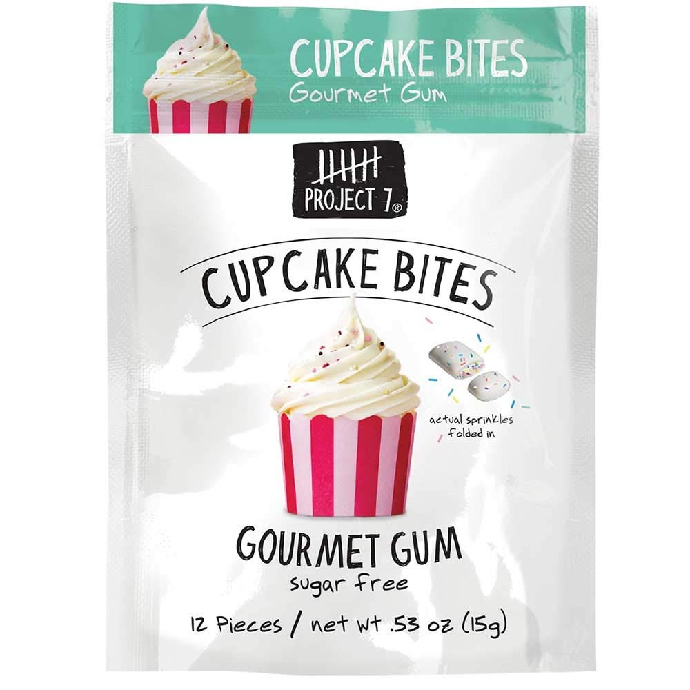 Project 7 Cupcake Bites Sugar Free Gourmet Gum, 0.53 Ounce -- 144 per case.