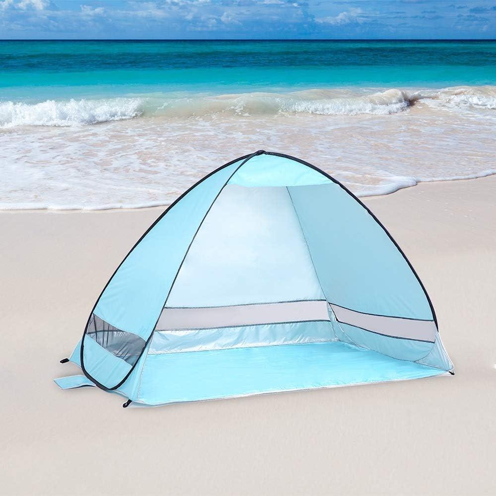 Tent HDS instantanée Pop Up de Plage légère UV Protection Contre Le Soleil Abri Pare-Soleil Canopy Équipement Camping □□ Green
