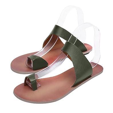 79abaa5840f4f Familizo 2018 New Women s Ladies Slippers Fashion Flat Ankle Shoes Beach Flip  Flops Roman