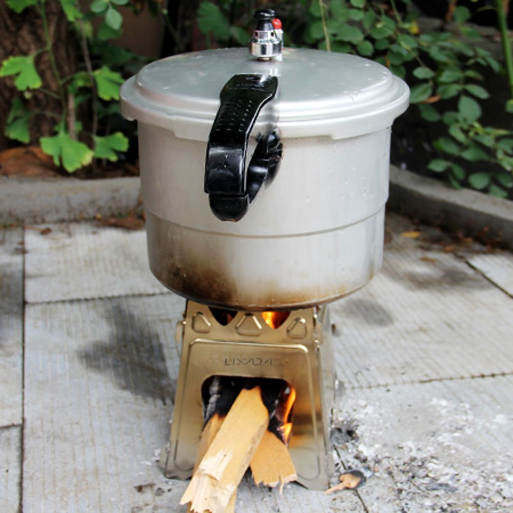 Amazon.com : Lixada Camping Wood Stove Folding Lightweight ...