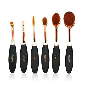 Hosaire 4Pcs Maquillaje Profesional de los Cepillos kit de Sombra de ojos Cepillo de Base Cejas Cepillos del Maquillaje Forma del Cepillo de Dientes (4Pcs ...