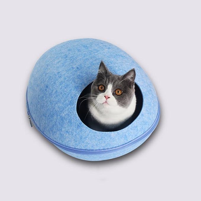 ... Calentador de caseta para gatos de invierno Saco de dormir para gatos con forma de huevo y cuatro estaciones cerrado: Amazon.es: Productos para mascotas