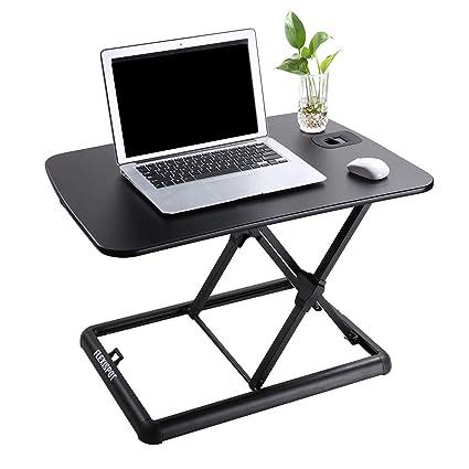 4f07b7f22347 FlexiSpot Laptop Desk Riser - Portable 26 quot  Standing Desk Sturdy  Aluminum Frame Sit Stand up