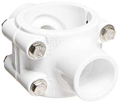 Spears 468SE Series PVC Clamp-On Saddle with Double Outlet