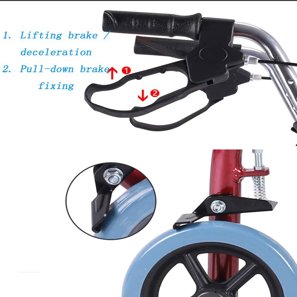 YMJJ Andador Ancianos, Ligero Andador de Aluminio Plegable con ...