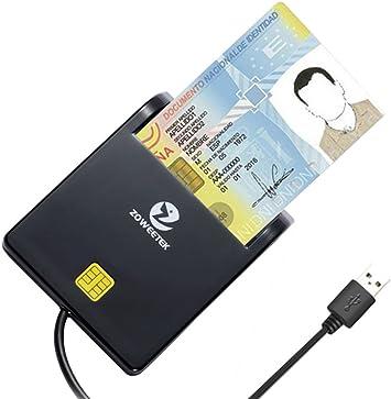 Zoweetek® Lector de Tarjetas Smart Dual, diseño portátil y SDXC, Micro SDXC Tarjeta de Memoria de Alta Capacidad, Plug y Play.: Amazon.es: Electrónica