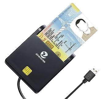 Zoweetek® Lector de Tarjetas Smart Dual, diseño portátil y ...