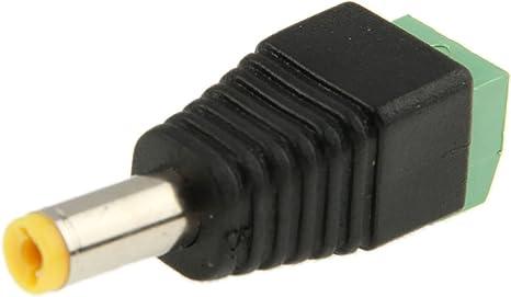 10 Stücke 2,1mm x 5,5mm Stecker DC Netzstecker Buchse Jack Stecker Schwarz  0U