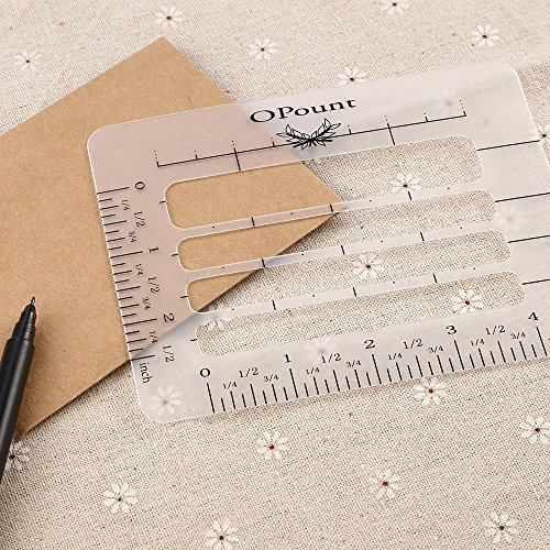 Opount Envelope Addressing Guide Acrylic Ruler Fits Wide Range Of