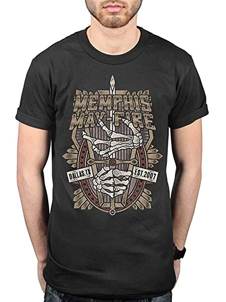a4f7ff2d2 Amazon.com: Official Memphis May Fire Coffin T-Shirt Black: Clothing