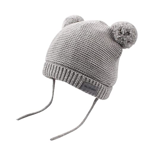 8b9a363875e XIAOHAWANG Baby Knit Hats Warm Toddler Boys Girls Winter Caps Pom Pom Cute  Bear Infant Beanies