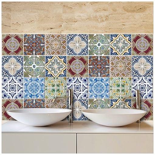 PS00006 Adesivi murali in pvc per piastrelle per bagno e ...