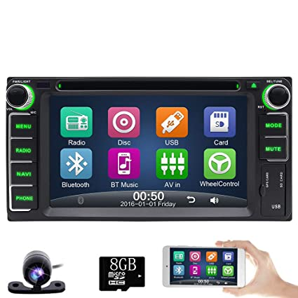 Amazon com: 6 2 Inch Double 2 Din Car DVD Player Stereo in Dash GPS