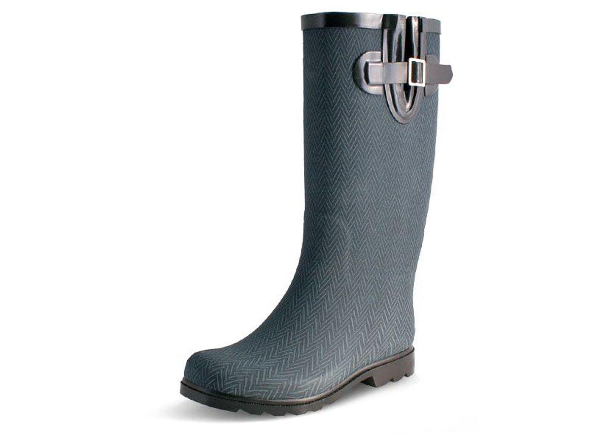 Nomad Women's Puddles Rain Boot B078QS3B8B 11 B(M) US|Navy Herringbone