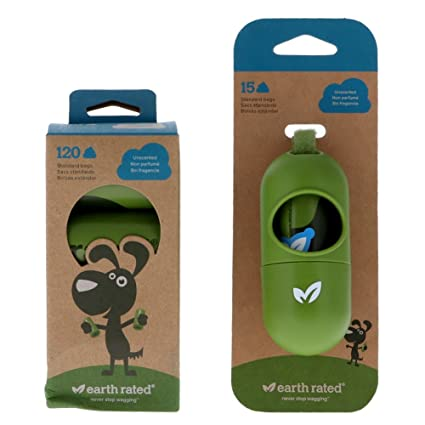 Amazon.com : Earth Rated Poop Bag Dispenser with 15 Starter ...