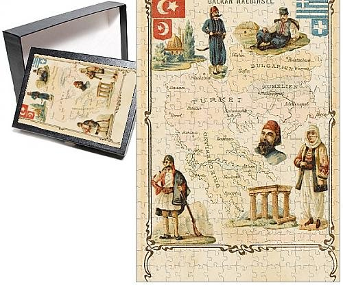 Costume National Romania (Photo Jigsaw Puzzle of Map of the Balkans, highlighting Greek and Turkish territory)