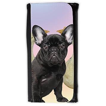 Cuero Original Sujetadora Tarjeta Crédito Identificación Dinero // Q05630691 Bulldog negro Ganso blanco // Large Size Wallet: Amazon.es: Electrónica